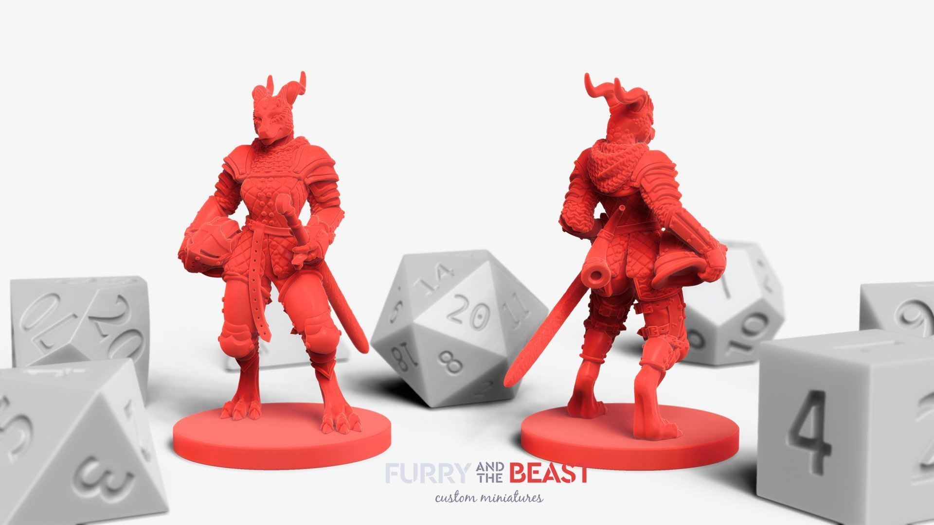 Dungeons and Dragons custom miniatures » Furry and the Beast