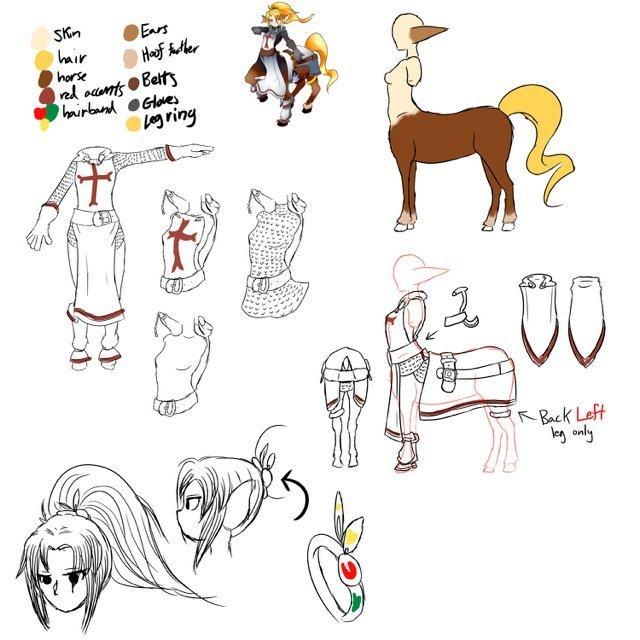 elf centaur sketch