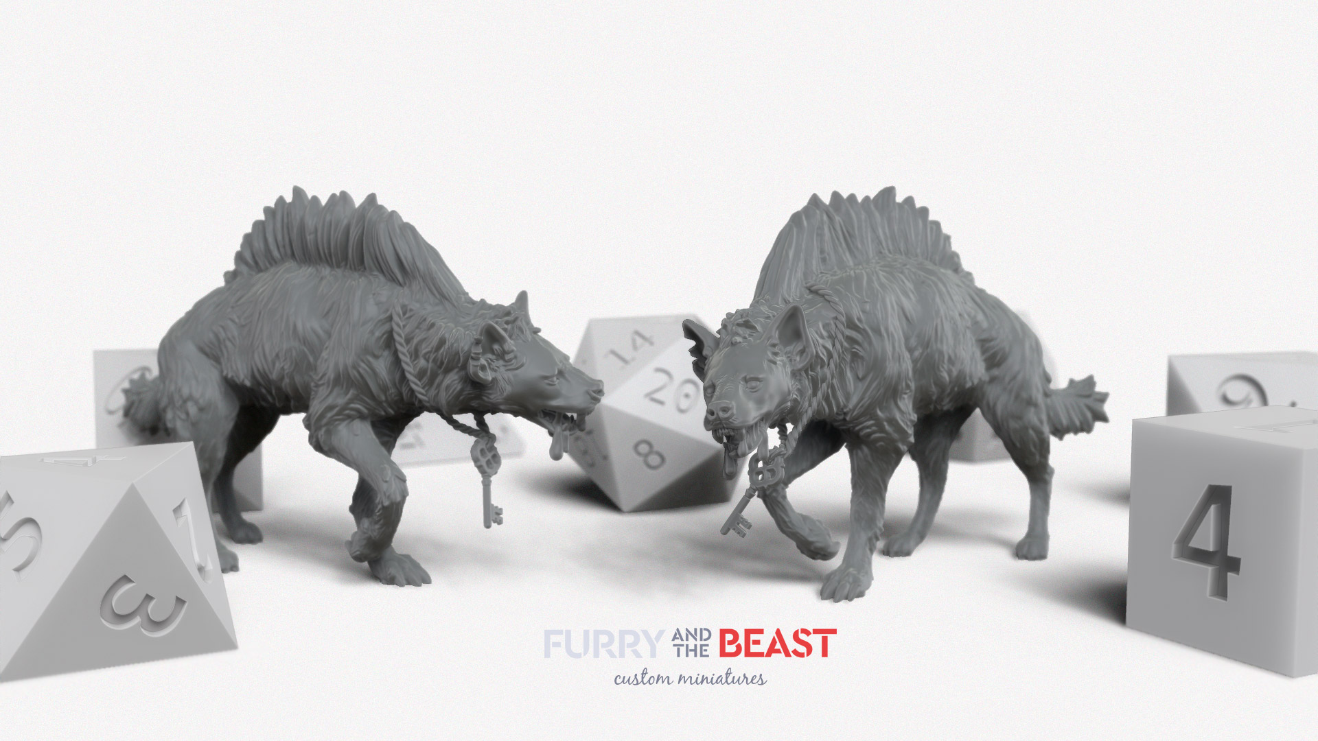 giant hyena custom miniature