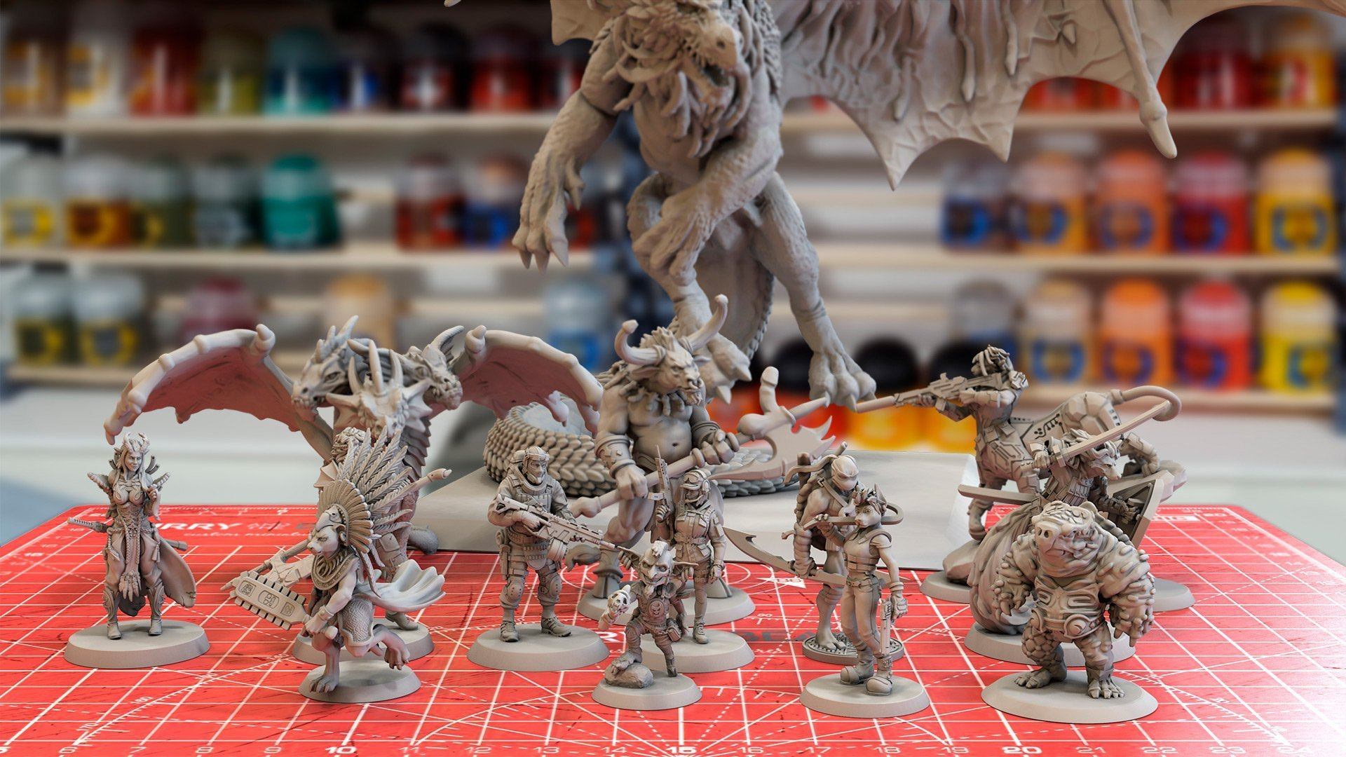 Furry and the Beast Custom miniatures