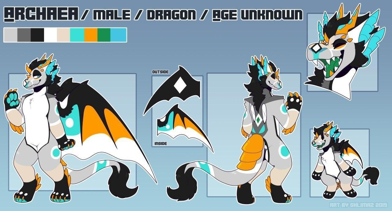 furry dragon concept art
